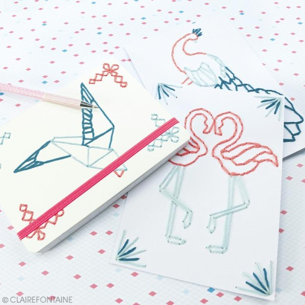 Kit Creativ' Paper box Clairefontaine - Carnet à broder - Photo n°2