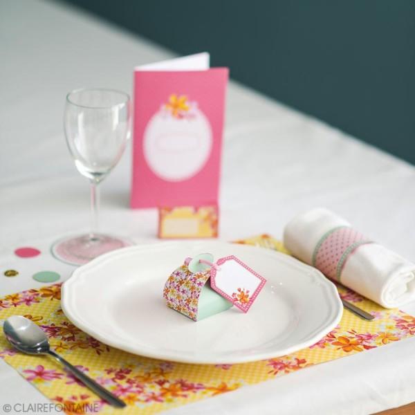 Kit décoration de table Clairefontaine - Printemps - 12 pcs - Photo n°3