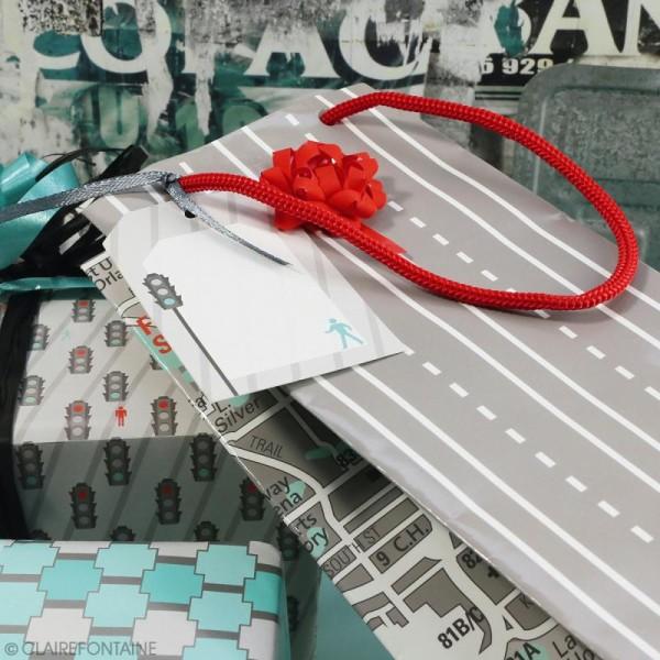 Feuille papier cadeau Clairefontaine - 50 x 70 cm - Ville - 10 pcs - Photo n°3