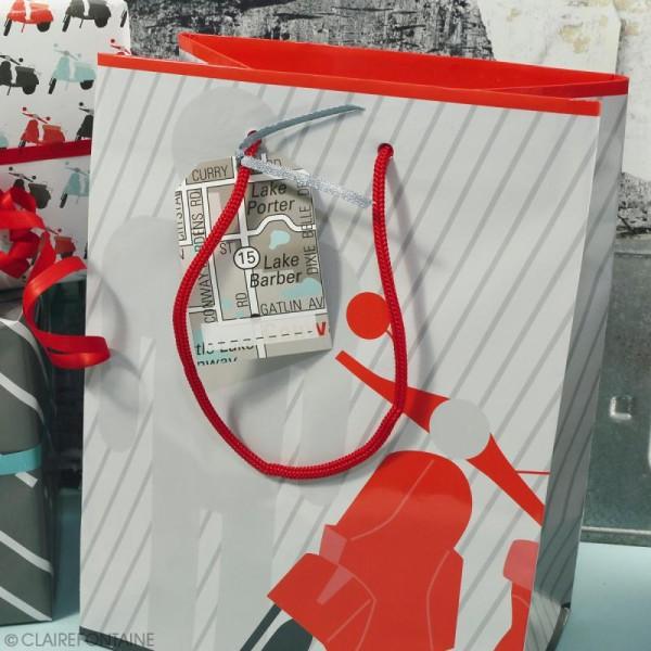 Feuille papier cadeau Clairefontaine - 50 x 70 cm - Ville - 10 pcs - Photo n°4