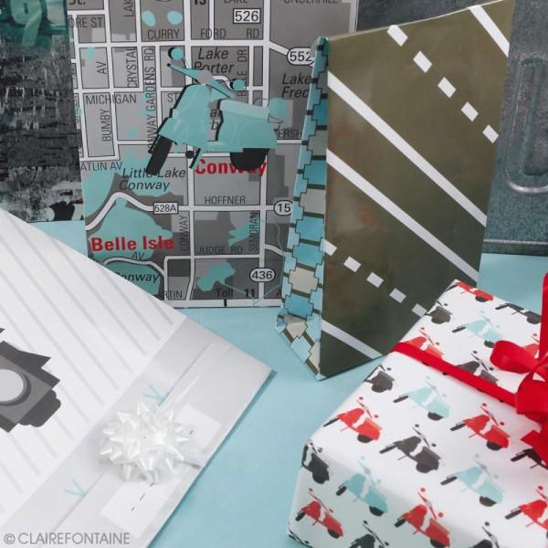 Feuille papier cadeau Clairefontaine - 50 x 70 cm - Ville - 10 pcs - Photo n°5