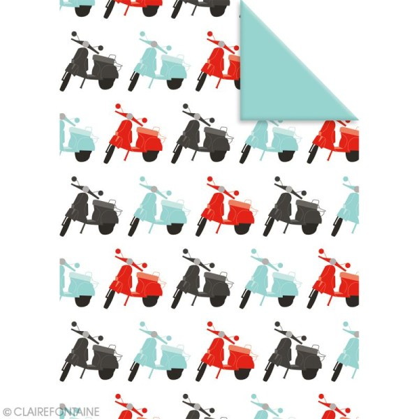 Feuille papier cadeau Clairefontaine - 50 x 70 cm - Ville - 10 pcs - Photo n°6