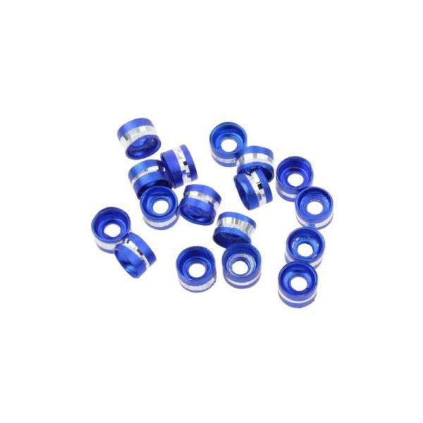 Lot de 20 Perles Rondelles Aluminium 6mm x 4mm Bleu Marine - Photo n°1