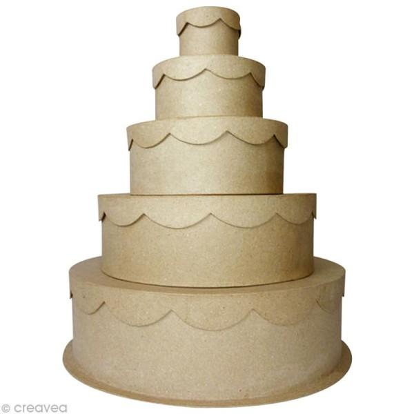 Boîte gigogne gâteau de cérémonie x 5 - Photo n°1