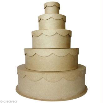 Boîte gigogne gâteau de cérémonie x 5