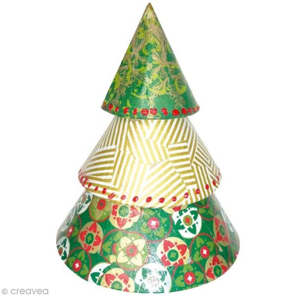 Sapin conique en papier mâché - Petit modèle - Photo n°2