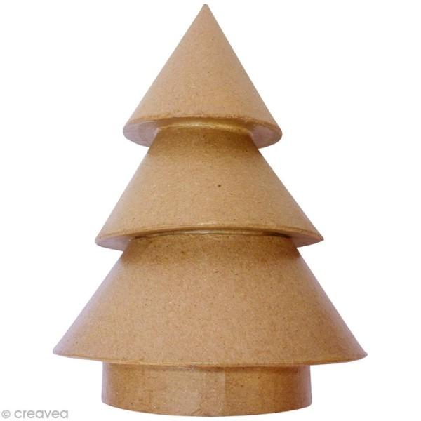 Sapin conique en papier mâché - Petit modèle - Photo n°1