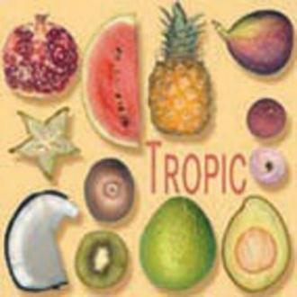 Serviette en papier Fruit Fruits exotiques