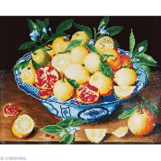 Grand Kit broderie Diamond painting - Diamond Dotz - Nature morte (Hulzdonck) - 52 x 42 cm