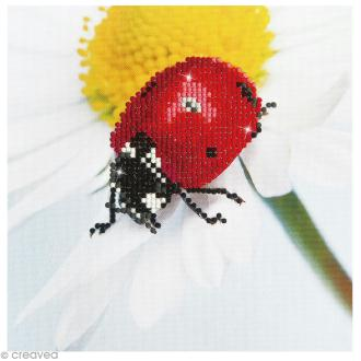 Kit broderie Diamond painting - Diamond Dotz - Coccinelle - 20 x 20 cm