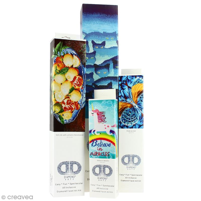 Kit broderie Diamond painting - Diamond Dotz - Chat noir - 27,5 x 35,5 cm - Photo n°3