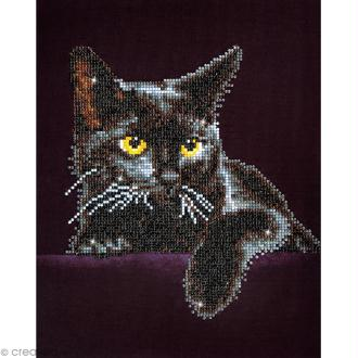 Kit broderie Diamond painting - Diamond Dotz - Chat noir - 27,5 x 35,5 cm