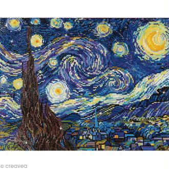 Grand Kit broderie Diamond painting - Diamond Dotz - La nuit étoilée (Van Gogh) - 50,8 x 40,6 cm