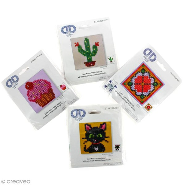 Petit Kit broderie Diamond painting - Diamond Dotz - Nounours - 7,6 x 7,6 cm - Photo n°2