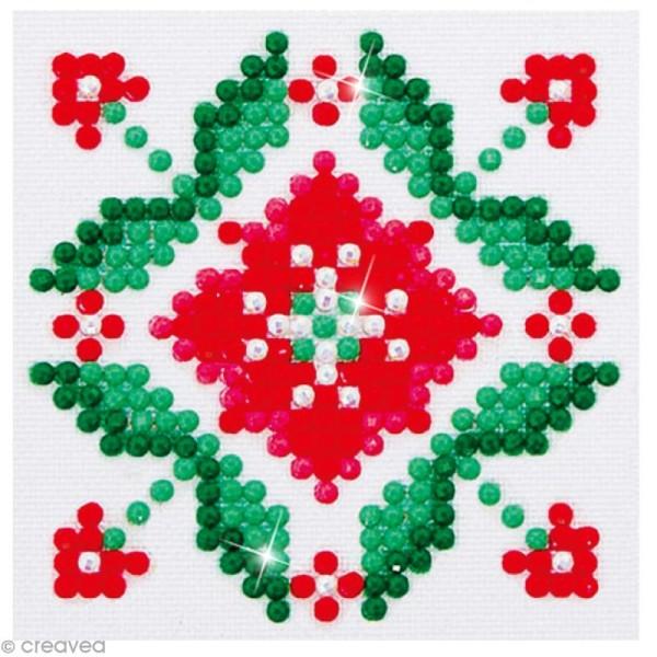 Petit Kit broderie Diamond painting - Diamond Dotz - Fleur rose - 7,6 x 7,6 cm - Photo n°1
