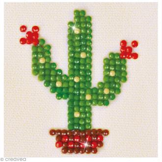 Petit Kit broderie Diamond painting - Diamond Dotz - Cactus - 7,6 x 7,6 cm