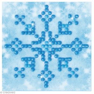 Petit Kit broderie Diamond painting - Diamond Dotz - Flocon de neige - 7,6 x 7,6 cm