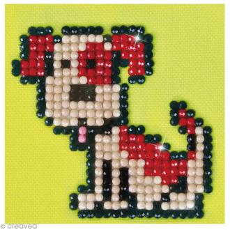 Petit Kit broderie Diamond painting - Diamond Dotz - Fido le chien - 7,6 x 7,6 cm