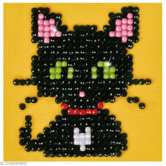 Petit Kit broderie Diamond painting - Diamond Dotz - Petit chat noir - 7,6 x 7,6 cm