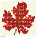 Petit Kit broderie Diamond painting - Diamond Dotz - Feuille d'automne - 7,6 x 7,6 cm - Photo n°1