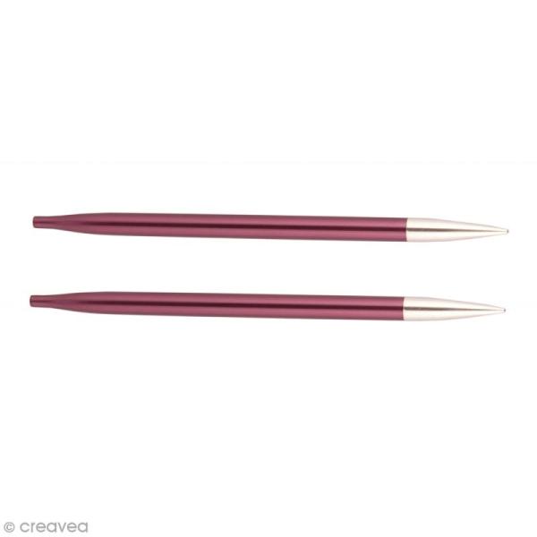 Aiguilles circulaires interchangeables Knit Pro - Prune - N°6 - Photo n°1