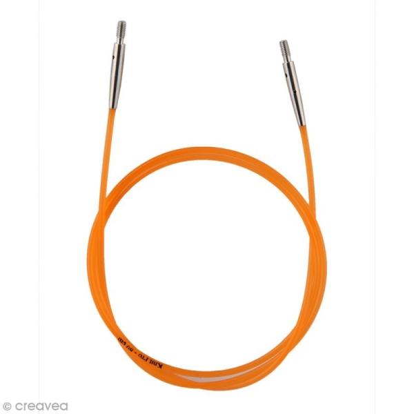 Câble pour aiguille interchangeable - Orange - 56 cm - Photo n°1