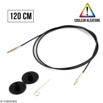 Câble pour aiguille interchangeable - Noir - n°76 - 120 cm