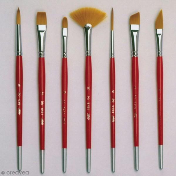 Pinceau Iris Gold Pébéo - Usé bombé - N° 02 - Photo n°3