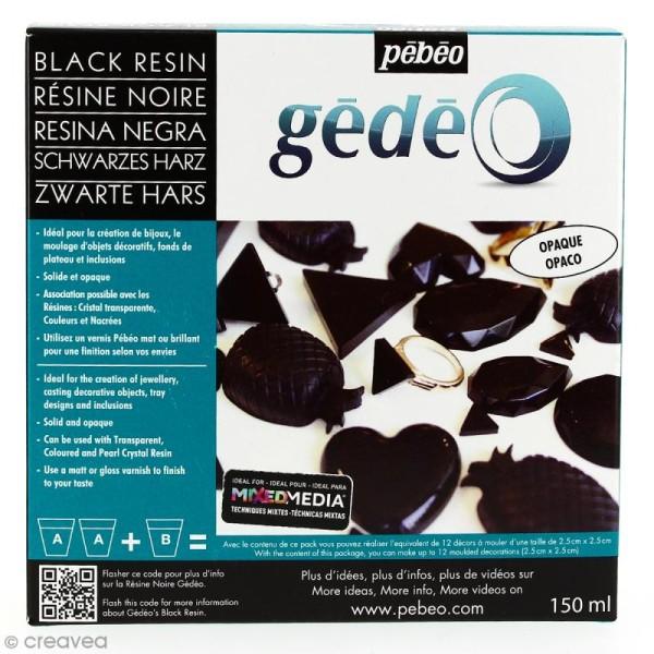 Résine Gédéo couleur - kit Noir 150 ml - Photo n°1