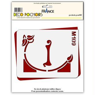 Pochoirs lettrine et monogramme art nouveau: I