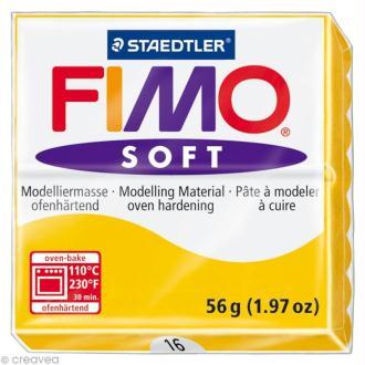Pâte Fimo soft Jaune Tournesol 16 - 56 gr