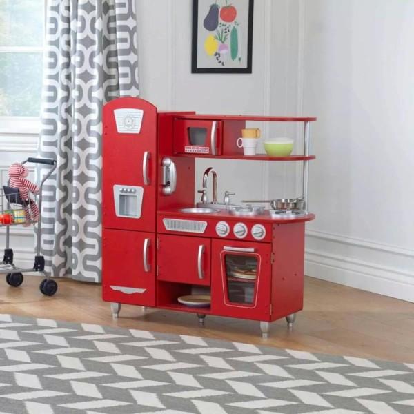 Kidkraft - Cuisine Vintage Rouge - Photo n°2
