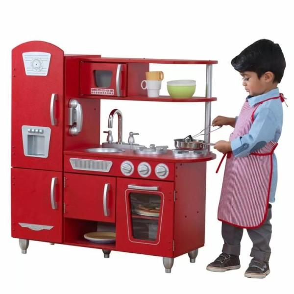Kidkraft - Cuisine Vintage Rouge - Photo n°3