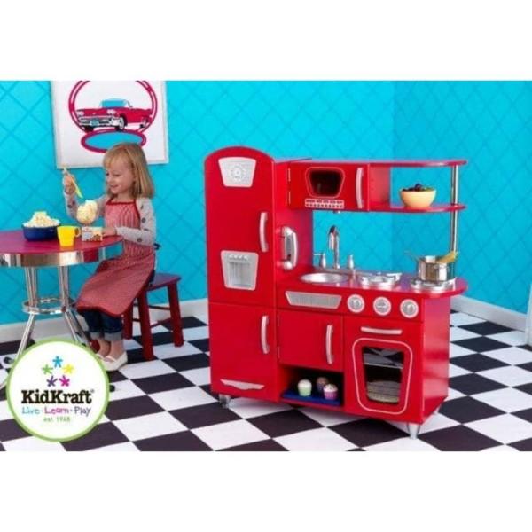 Kidkraft - Cuisine Vintage Rouge - Photo n°1