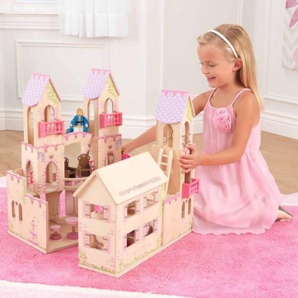 Kidkraft Château De Princesse Et 4 Poupées 45,7 X 44,5 X 54 Cm 65259 - Photo n°2