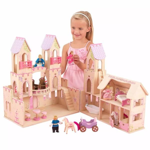 Kidkraft Château De Princesse Et 4 Poupées 45,7 X 44,5 X 54 Cm 65259 - Photo n°3
