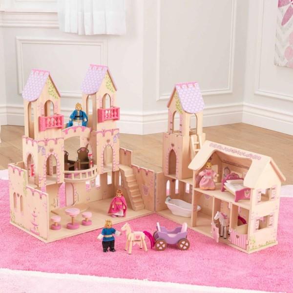 Kidkraft Château De Princesse Et 4 Poupées 45,7 X 44,5 X 54 Cm 65259 - Photo n°4