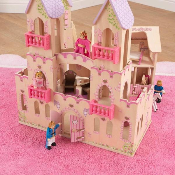 Kidkraft Château De Princesse Et 4 Poupées 45,7 X 44,5 X 54 Cm 65259 - Photo n°5