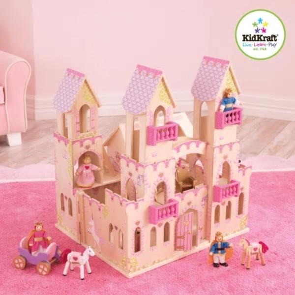 Kidkraft Château De Princesse Et 4 Poupées 45,7 X 44,5 X 54 Cm 65259 - Photo n°1