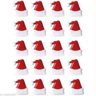 Attaches parisiennes Bonnet de père Noël x 20
