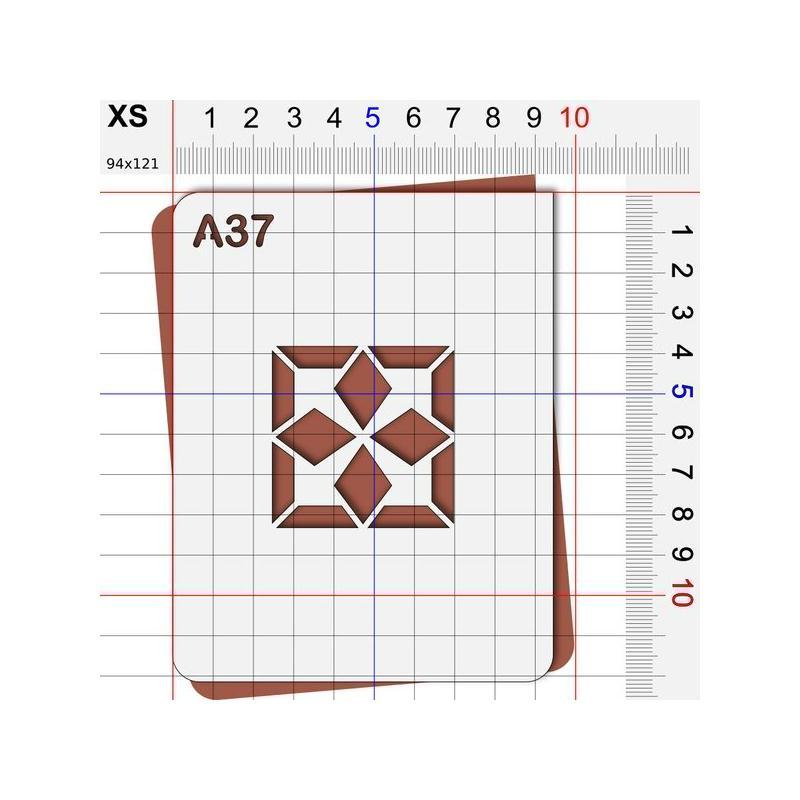 Pochoir carreau g om trique pochoir classique et art for Pochoir geometrique