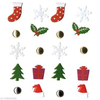 Attaches parisiennes Noël classique x 20