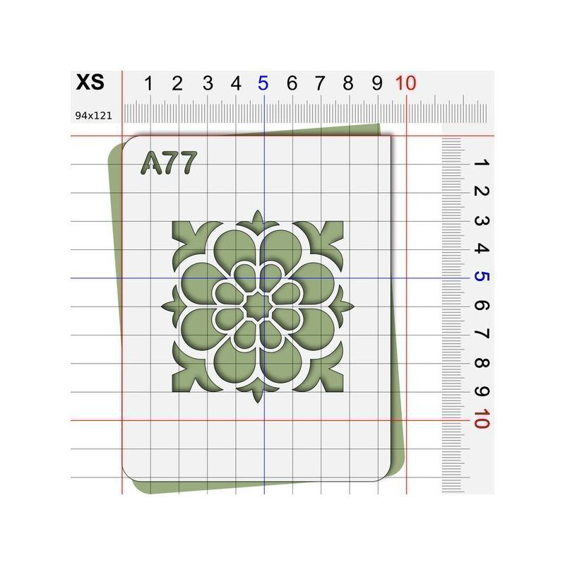 Pochoir rosace g om trique pochoir classique et art for Pochoir geometrique