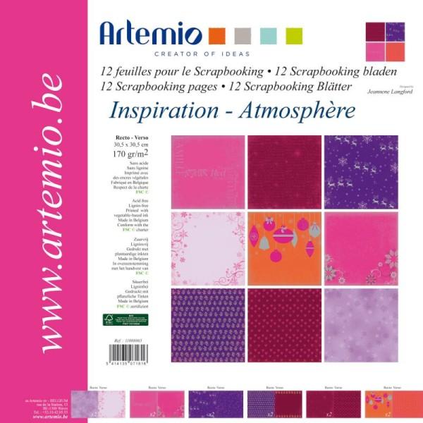 Papier scrapbooking Noël Tendance ambiance - Set 12 papiers recto/verso 30,5 cm - Photo n°1