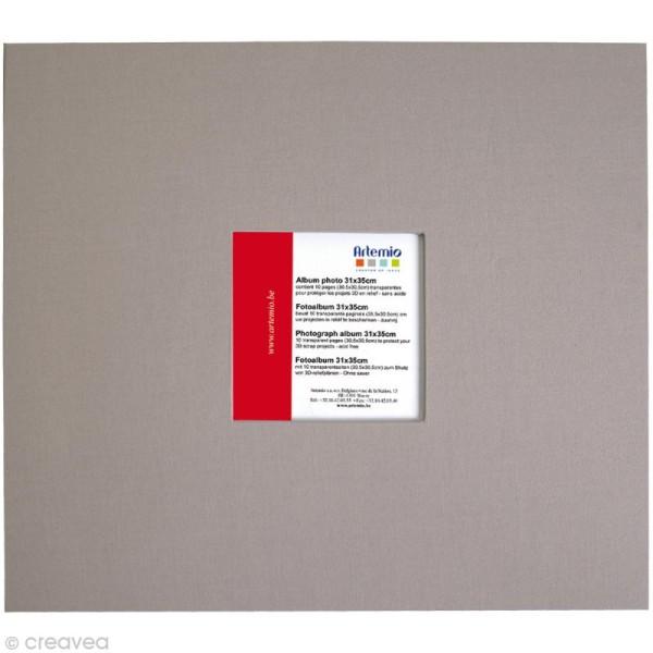 Album pour scrapbooking Gris clair 31 x 35 cm - Photo n°1