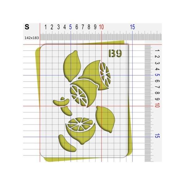 Pochoir citron agrume - Photo n°3