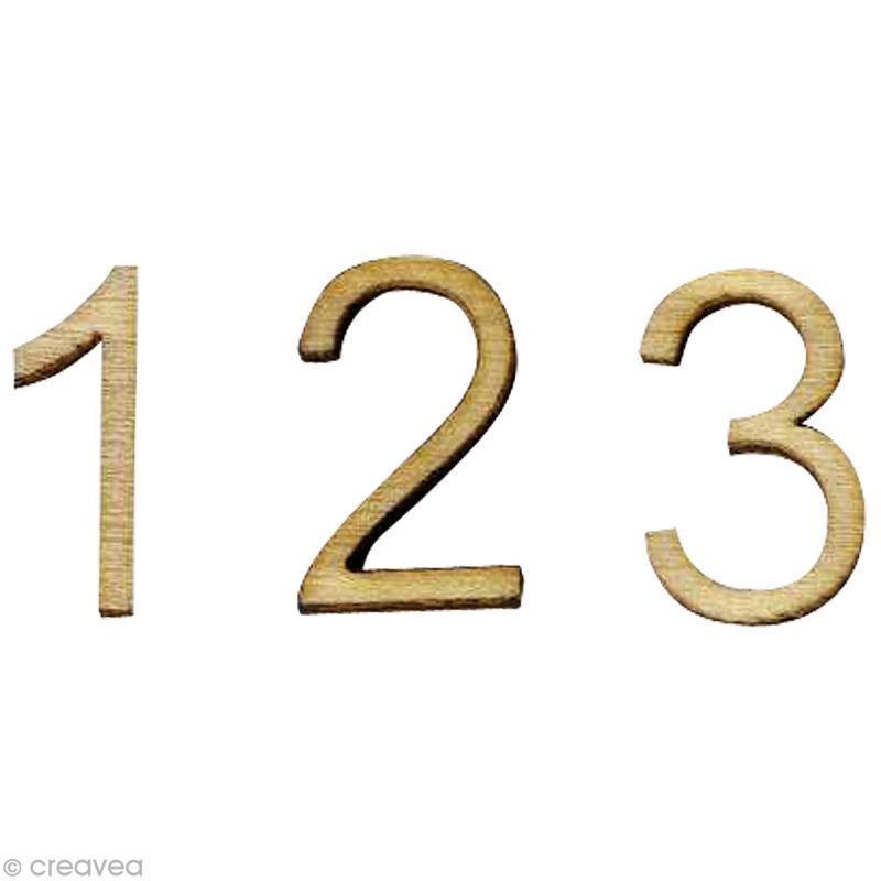 mini chiffre en bois sachet de 66 pi ces alphabet a. Black Bedroom Furniture Sets. Home Design Ideas