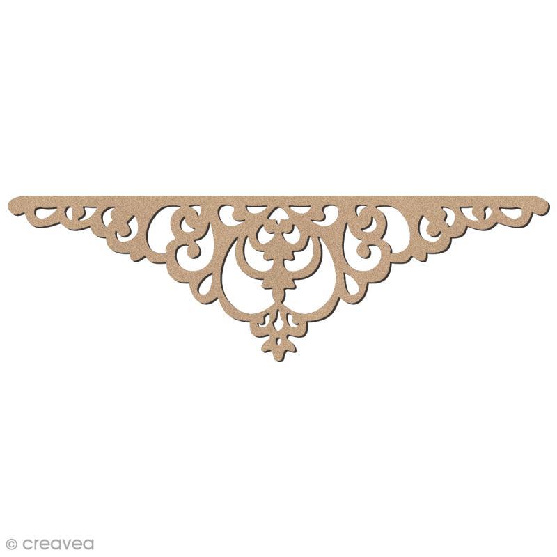 Ornement en bois - Embellissement baroque - 14 cm - Photo n°1