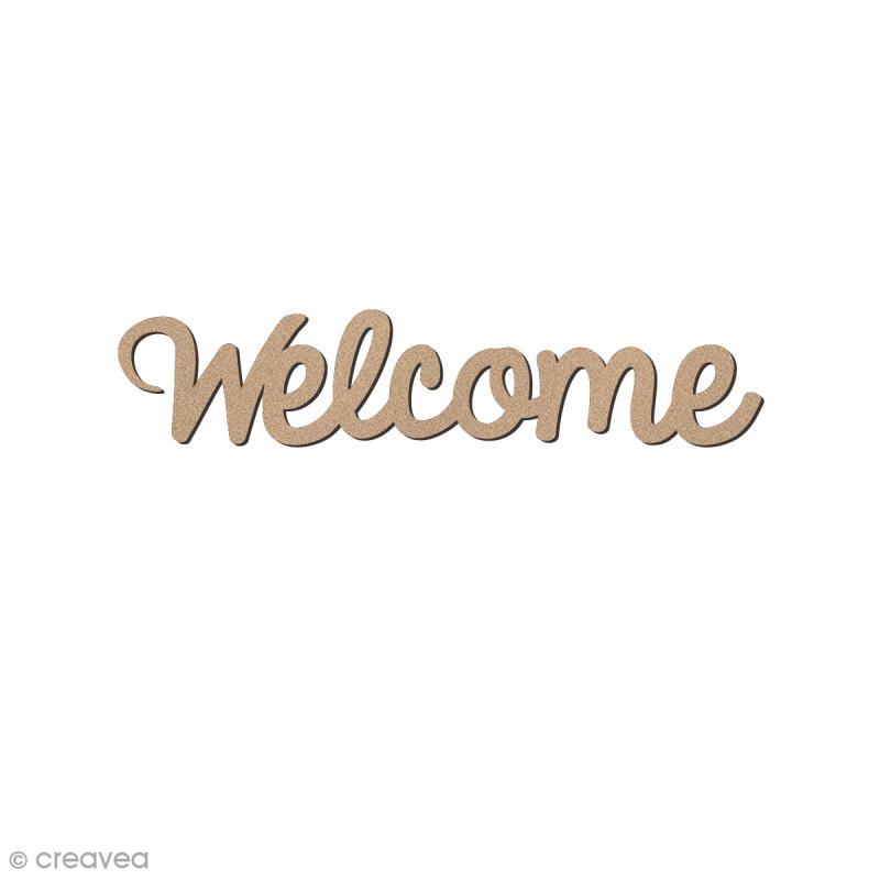 Mot Welcome en bois - 7,5 x 1,8 cm - Photo n°1