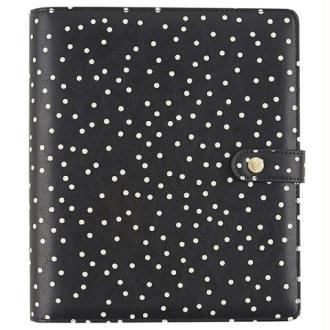 Planner Simple stories Carpe Diem A5 24x20x4cm black speckle noir à pois blancs vide